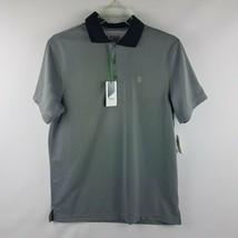 IZOD Men Performance Golf High Rise Gray Short Sleeve Polo Shirt Size S ... - $39.95