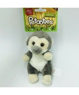 "Russ Petooties Pets Monkey Jungle Friends 5"" Beanbag Plush Adopt Me New - $14.99"