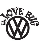 """VW DECAL THE LOVE BUG Volkswagen 5"""" OR 10"""" OR 12"""" STICKER ***FREE SHIPPI... - $5.93+"""