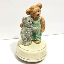 Vintage Otagiri Japan Music Box Play Mates Teddy Bear Rotating Music Box - $19.95