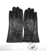 New Liz Claiborne Leather Gloves Brown Womens Large Winter Wear - $32.66
