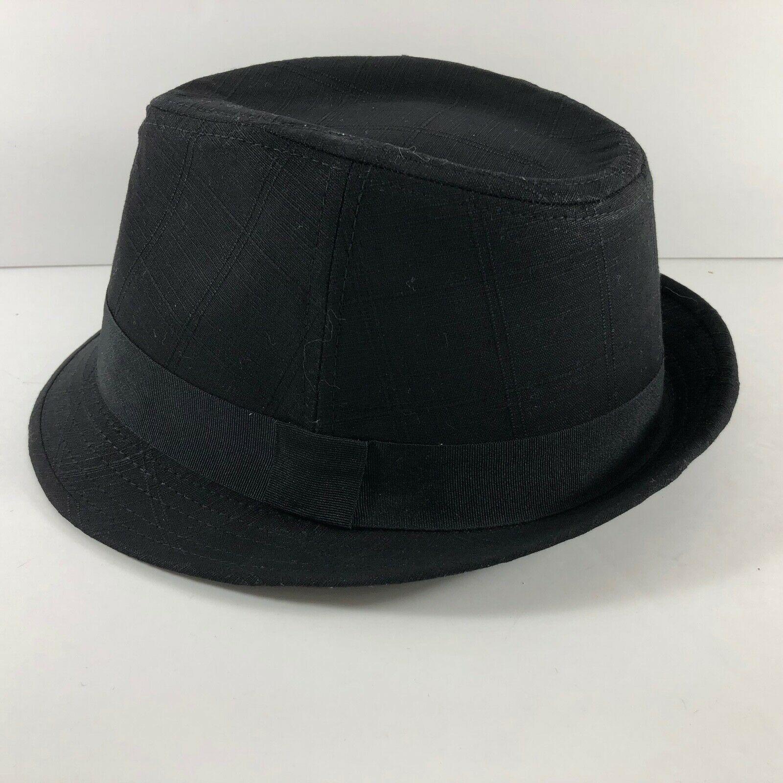 Vintage DPC Authentic cotton linen Black Fedora Hat sz L Handmade Headwear image 2
