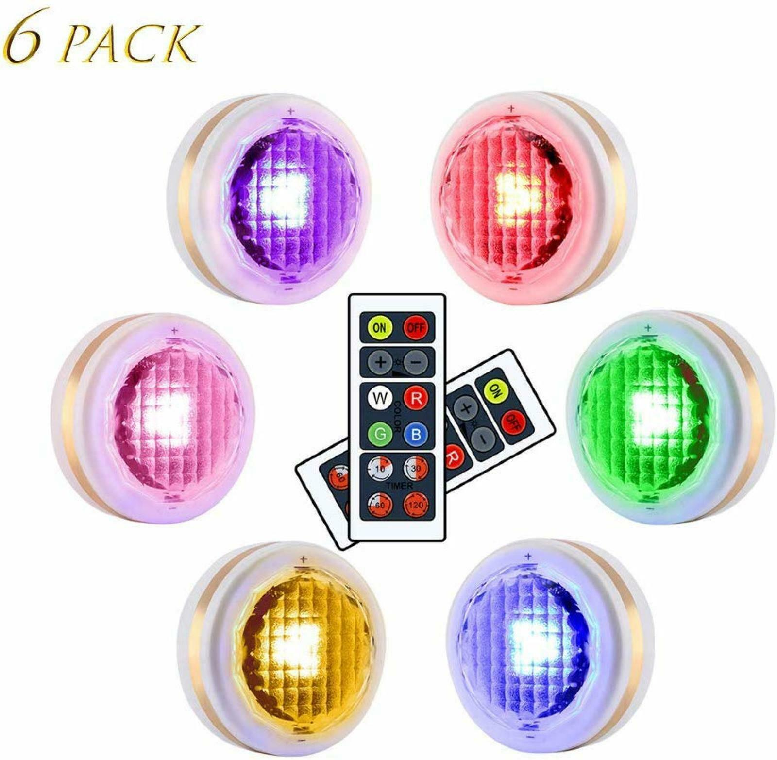 Primary image for LEASTYLE Wireless LED Puck Lights with Remote Control RGBW 12 Colors Changing