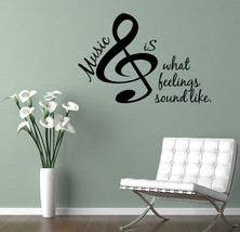 MUSIC IS... Vinyl Wall Lettering Decals Vinyl Wall quote Decal Home Deco... - $11.29+