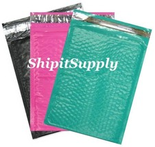 3-300 #0 6x10 ( Black Pink & Teal ) Color Poly Bubble Mailers Fast Shipping - $3.49+