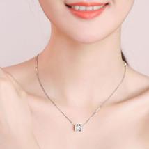 Sterling Silver Cz Diamonds Zircon Necklaces & Pendants Women Luxury Sty... - $11.66