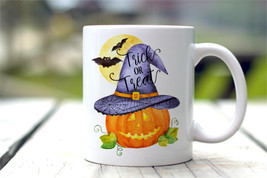 New Mug - Halloween Mug  Trick Or Treat Pumpkin Mug  Autumn Decor - $10.99+