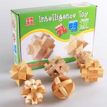 6pcs/lot Brain Teaser Burr Adults Puzzle Cube Assembly Disentanglement P... - $52.80
