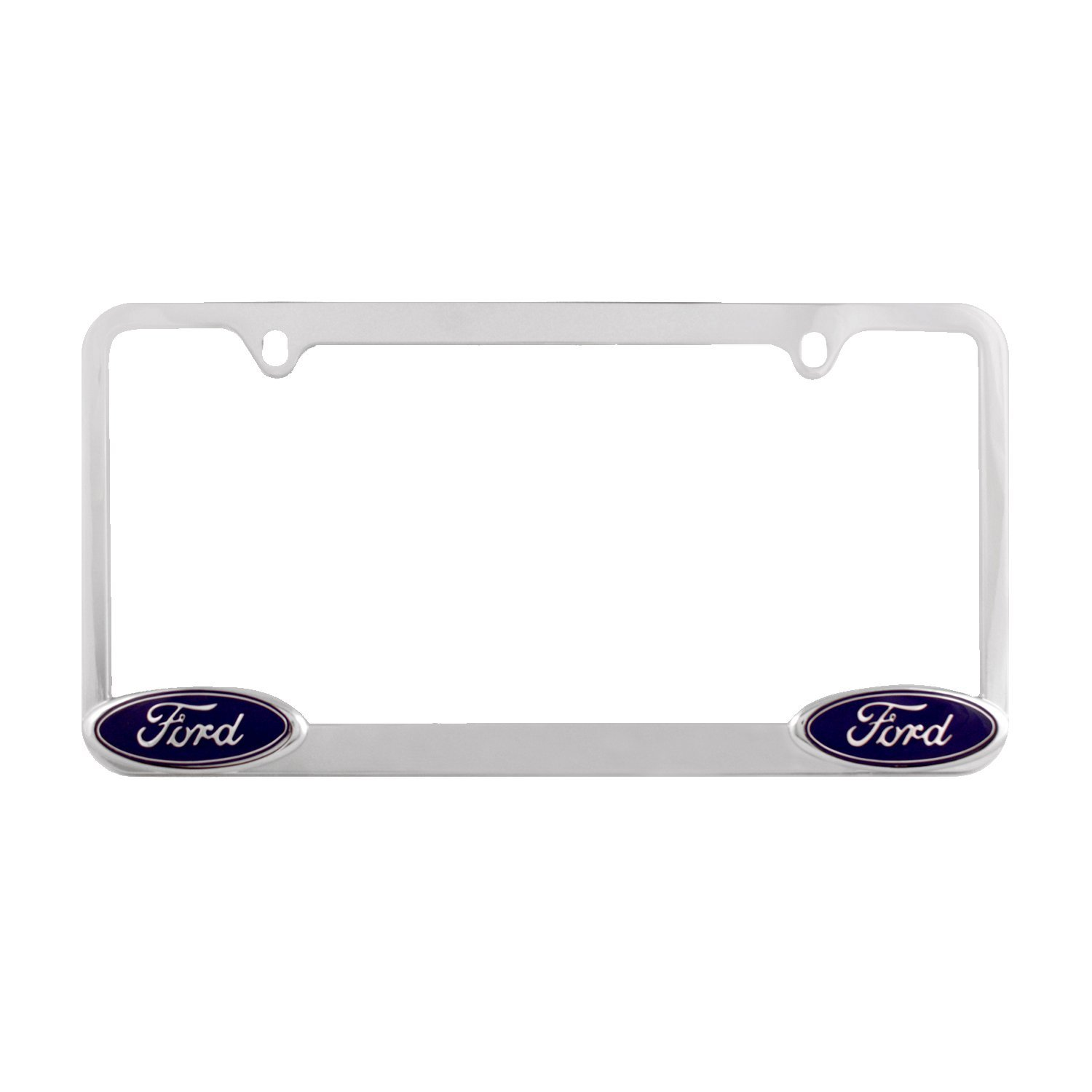 Ford EXPEDITION Stainless Steel Black License Plate Frame Rust Free Caps