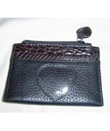 Brighton Coin Purse with Picture Holder Black with Brown Accents - $12.99