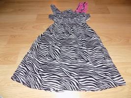 Girl's Size 5-6 Black White Zebra Print Dress Pink White Polka Dot Accen... - $14.00