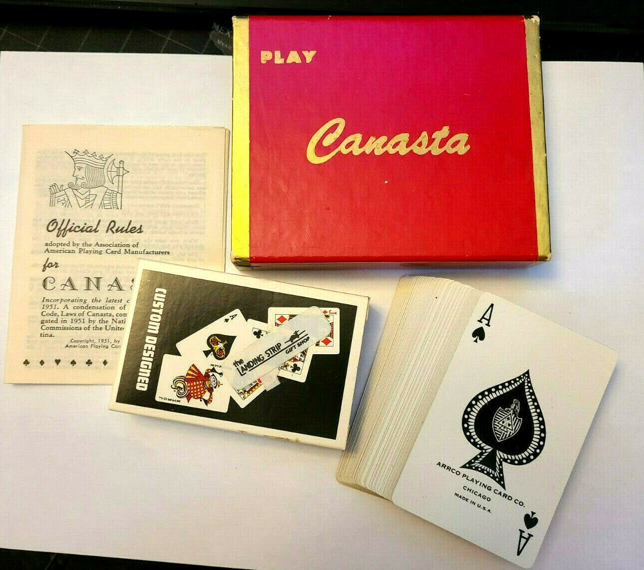 PLAY Canasta Double Deck Playing Cards Arrco Playing Card Co. Chicago
