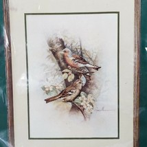 """Elsa Williams Counted Cross Stitch Chaffinch Birds 02041 10""""x14"""" Made in... - $24.75"""