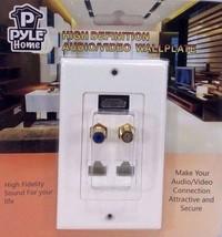 Pyle Home PHDM2RJRF1 HDMI/Mono RCA Audio/Coaxial/Dual Ethernet Combo Wal... - $24.70