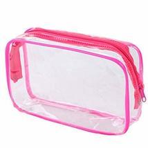 4 Pcs Waterproof Transparent PVC Pouch Cosmetic Bag Wash Bag