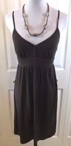 Ann Taylor LOFT Womens Dress sz Xs Brown Sundress T-shirt Material Cotton - $13.33