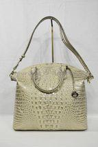 NWT Brahmin Large Leather Duxbury Satchel/Shoulder Bag in Silver Birch Melbourne image 4