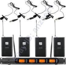 High-Class 4 Lavalier / Lapel Mic Wireless Digital Microphone System Cle... - $395.01