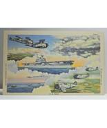 ML5 US Navy Ship Aircraft Linen Postcard Curt Teich Not Posted NM - $3.05