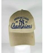 New York Yankees 2003 American League Champions Brown Hat Cap - $12.86