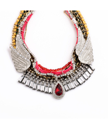 Major Suit Hot Jewelry Luxurious Wing Red Green Female Necklace - $40.84