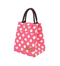Gift,Yellow Dots&Heart-Shaped Waterproof Large Capacity Lunch Bag/Bags