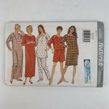 Misses Pajamas Pattern Nightshirt Top Shorts Butterick 4686 Womens XS S M - $9.89