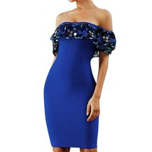 Womens dresses Elegant Embroidered Slesh Neck Slim Fit Sexy Party Dress Elegant  image 2