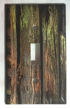 Color Barn Wood Light Switch Outlet Toggle Rocker Wall Cover Plate Home Decor image 1