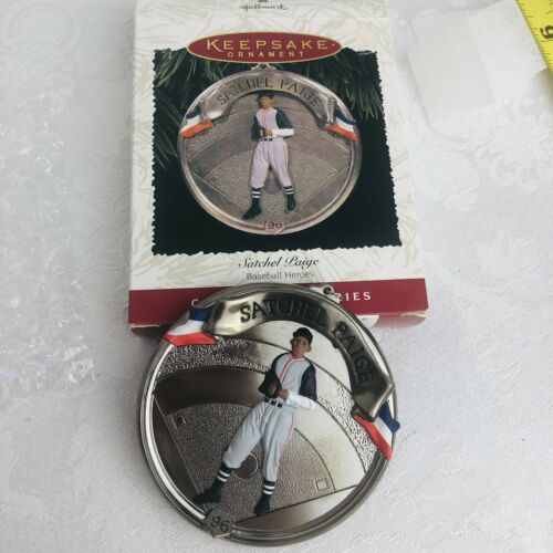 Primary image for Hallmark Keepsake 1996 Satchel Paige Ornament Collectors Baseball Cleveland New