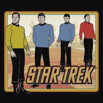 Star Trek Classic Animated TV Crew Standing T-Shirt NEW - $21.19