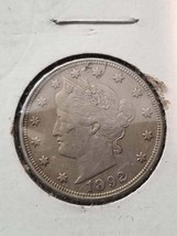 1892 v nickel vf+/ex details - $17.99