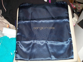 "SERGIO ROSSI New Satin Blue Shoe Dust Bag 14 x 17 1/2"" - $8.90"