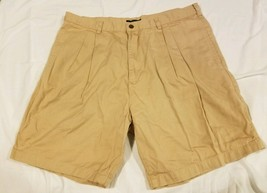 Chaps Ralph Lauren RL Tan Khaki Golf Shorts 100% Cotton Made In Egypt Size 38 - $14.69