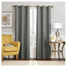 """Eclipse Nikki Thermaback Blackout Curtain Panel(1) - Gray 40""""x84""""  - $19.50"""