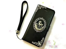 Unicorn leather wallet handmade phone case cover for Apple / Samsung / L... - $25.00
