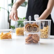 Food Storage Transparent Plastic Sealed Can Fruit Cookie Jar Organizer C... - €13,86 EUR+