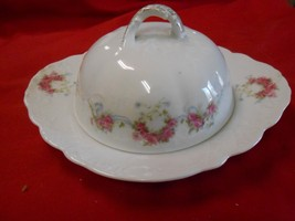 Beautiful ELBOGEN China-Pink Flowers-Made in AUSTRIA-  BUTTER DISH with ... - $18.42