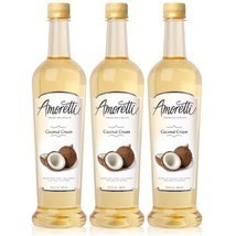 Amoretti Premium Coconut Cream Syrup 750ml 3 Pack - $49.47