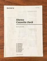 Sony TC-WA8ESA WA7ESA WE805S WE705S WE605S WR550Z Owners Manual *Original* - $13.97