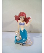 DISNEY THE LITTLE MERMAID PRINCESS ARIEL PVC FIGURE ON ROCK WITH OYSTER ... - $11.71