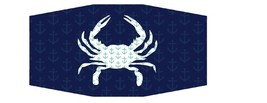 Maryland Blue Crab with Anchor Design Unisex Face Mask - $12.62