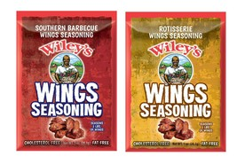 Wiley's WINGS Seasonings! 2 BBQ & 2 Rotisserie-Just in time for the SUPE... - $10.99