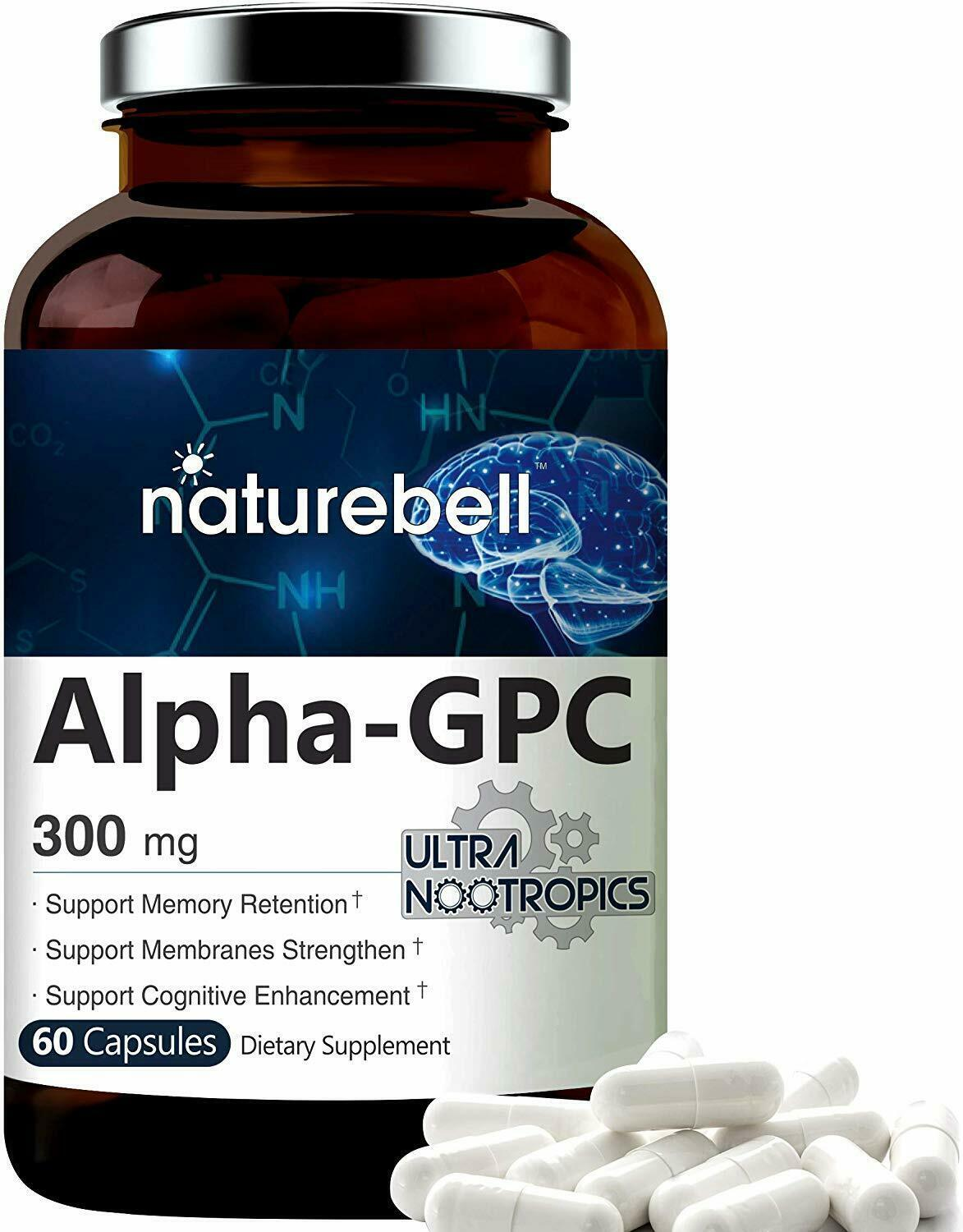 Primary image for Alpha GPC Choline Supplement 60 Capsules, Supports Memory Retention Non-GMO