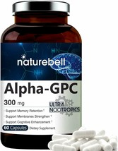 Alpha GPC Choline Supplement 60 Capsules, Supports Memory Retention Non-GMO - $17.81