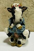 1994 Highway Holsteins Denim Biker Cow I Love Bulls Figurine Parastone E... - $29.70