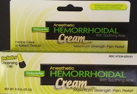 ANESTHETIC HEMORRHOIDAL CREAM w ALOE Hemorrhoid Pain Relief Generic Prep... - $2.96
