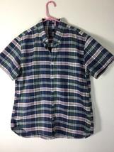 Herren Größe XL J Crew Oxford Button-Down Hemd Kariert Enge Passform - $8.19