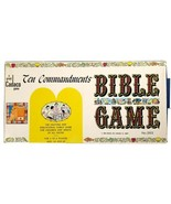 BRAND NEW 1966 OLD STOCK UNPUNCHED VINTAGE TEN COMMANDMENTS BIBLE BOARD ... - $38.61
