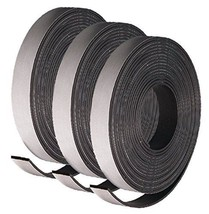 """3 Rolls of Adhesive Backed Flexible Strong Fridge Magnet Strip Tape 30"""" ... - $5.62"""